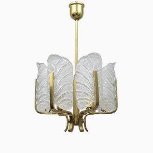 Vintage Swedish Glass Lamp from Orrefors