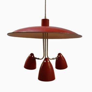 Lampada da soffitto vintage di H. Busquet per Hala, Olanda, anni '50