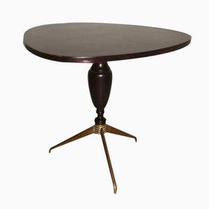 Table Basse en Palissandre et en Laiton, Italie, 1950s