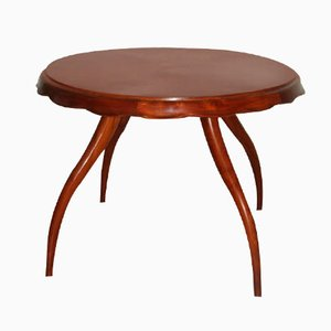 Round Italian Table with Curved Legs, 1940s