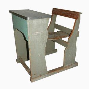 Banco de escuela de madera lacada, años 50