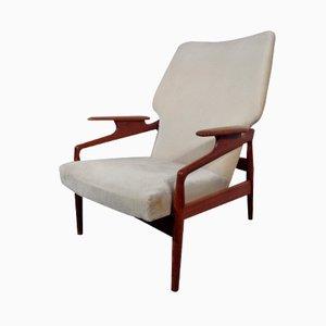 Vintage Danish Adjustable Teak Lounge Chair