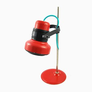 Lampe de Bureau Rouge Modèle HE 4380 de Elektrofem, 1970s
