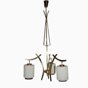 Lámpara de araña italiana de Bruno Chiarini para Chiarini, años 50