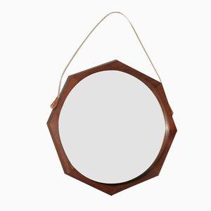 Octagonal Rosewood Mirror, 1950s