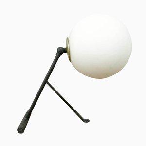 Italienische Mid-Century Opalglas Tisch- oder Wandlampe