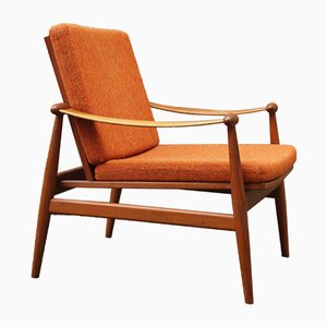 Mid-Century Danish Teak Easy Chair by Finn Juhl for France & Son