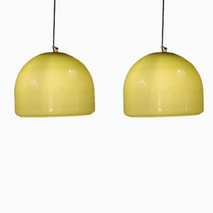 Pistachio Ceiling Lamps, 1960s, Set of 2