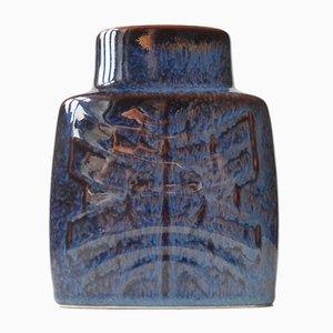 Jarrón de cerámica morada brillante de Carl-Harry Stålhane para Rörstrand, años 60