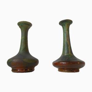 Vasi policromo di Hermann August Kähler, Danimarca, anni '20, set di 2