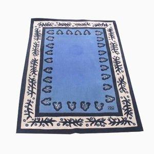 Blauer Teppich von Garouste & Bonetti für Sam Laïk, 1990er