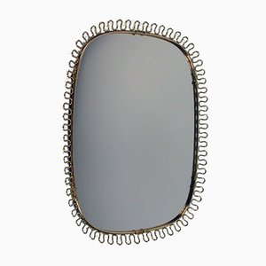 Mid-Century Brass Loop Wall Mirror by Josef Frank for Svenskt Tenn, 1950s