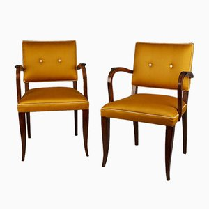 French Art Deco Bridge Chairs, 1942, Set of 2