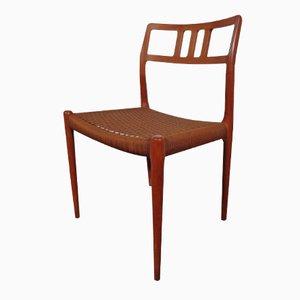Dänischer Vintage Modell 79 Teak Stuhl von Niels Möller