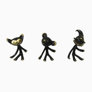Austrian Pipe Stands by Walter Bosse, 1950s, Set of 3