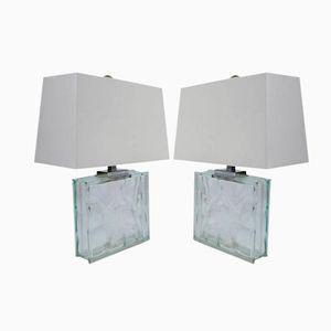 Eisblock Tischlampen von Ramor, 1970er, 2er Set