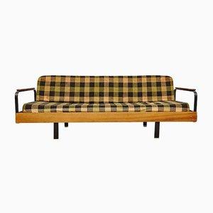 Französisches Kariertes Vintage Sofa & Liege