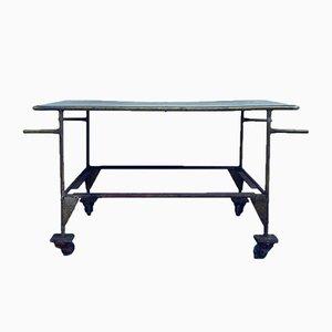 Belgischer Industrie Metall Tisch, 1960er