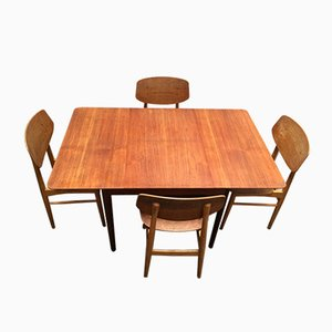 Sedie da pranzo e tavolo SB13 di Cees Braakman per Pastoe, anni '50, set di 5