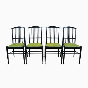 Vintage Charlotte Esszimmerstühle von Kerstin Hörlin-Holmquist für Asko, 4er Set