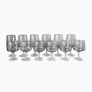 Bicchieri Atlantic di Per Lütken per Holmegaard, Danimarca, 1962, set di 12