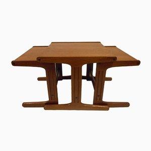 Tavoli a incastro in stile nordico, anni '60