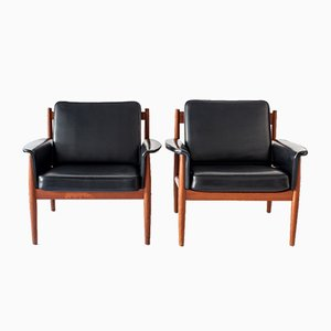 Lounge Chairs by Grete Jalk for France & Son, 1960s, Set of 2