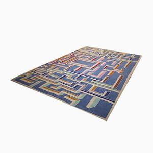 Vintage Labyrinth Rug in the Style of Gio Ponti