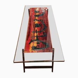 Italienischer Couchtisch von Dubè für Fontana Arte, 1950er
