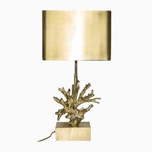 Lámpara francesa de bronce dorado de Maison Charles, años 60