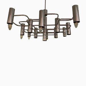 Lámpara de techo de cromo, años 70