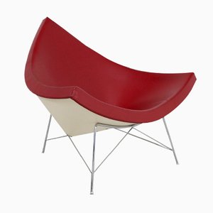 Vintage Oxblood Red Leather Coconut Chair by George Nelson for Vitra
