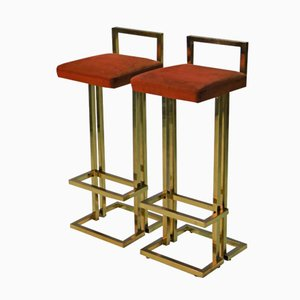 Vintage Bar Stools from Maison Jansen, Set of 2