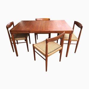 Set da pranzo Mid-Century in teak di H. W. Klein per Bramin, anni '60