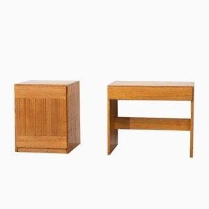 Escritorio y mueble suecos vintage de pino