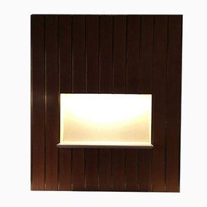 Unità di mensole da parete vintage con luce centrale