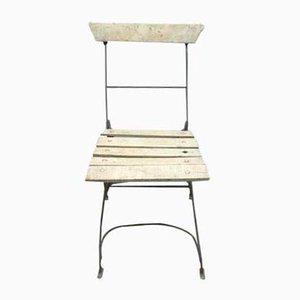 Folding Wooden Garden Chair, 1940s