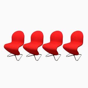 Sedie System 123 di Verner Panton per Fritz Hansen, 1973, set di 4