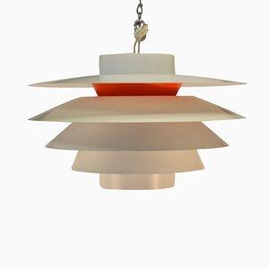 Lámpara colgante Verona de Svend Middelboe para Thorn, años 70