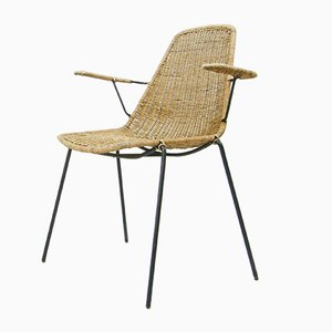 Mid-Century Rattan Stuhl von Campo e Graffi für Home