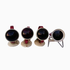 Infrared Lamps by Charlotte Perriand for Philips, 1960s, Set of 4