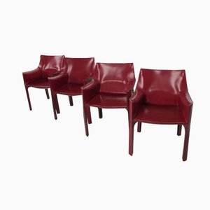 Model 413 Cab Chairs by Mario Bellini for Cassina, 1977, Set of 4