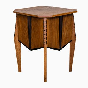 Mesa auxiliar Art Decó de Piet Izeren para De Genneper Molen, años 30