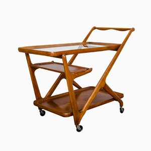 Mid-Century Serving Trolley by Cesare Lacca for Cassina, 1950s