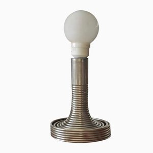 Lámpara de mesa en espiral de Angelo Mangiarotti para Candle, años 70