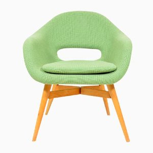 Green Shell Chair by Miroslav Navrátil, 1960s