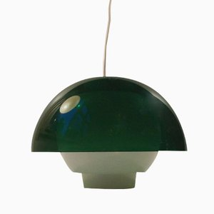 Green Plexiglass Ergo Pendant Lamp by Bent Karlby for A. Schroder Kemi, 1970s