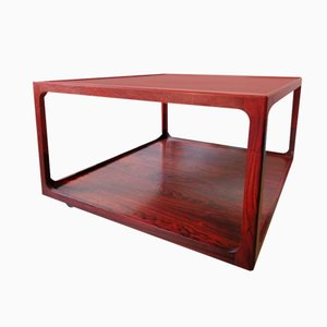 Italian Rosewood Two-Tier Coffee Table, 1960s
