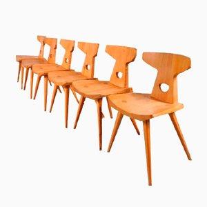 Chaises de Salle à Manger par Jacob Kielland-Brandt pour I. Christiansen, 1960s, Set de 6