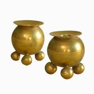 Swedish Candle Holders from Gusum Bruk, 1900s, Set of 2